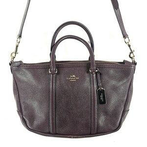 Coach Dark Purple Leather Bag